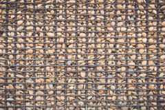 Stone pattern with metal grid Stock Photo