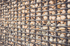 Stone pattern with metal grid Stock Photography