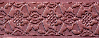 Stone pattern on a temple wall in Red Fort, Agra Stock Photography