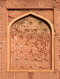 Stone pattern on a wall in Red Fort, Agra Royalty Free Stock Photos