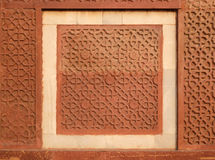 Stone pattern on a wall in Red Fort, Agra Royalty Free Stock Image