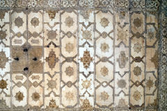 Stone pattern on a wall in Red Fort, Agra. UNESCO World heritage site, India Stock Images