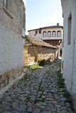 Stone paved alley Stock Image