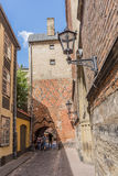 Stone paved alley Riga Royalty Free Stock Photography