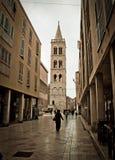 Stone paved dalmatian street in Zadar Royalty Free Stock Image