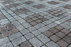 Stone paved ground. With nobody Stock Images