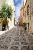 Stone Paved Old Street in Erice, Sicily Stock Photography