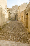 Stone Paved Old Street in Erice, Sicily Royalty Free Stock Photos