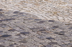 Paved park alley closeup Royalty Free Stock Image