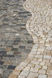 Stone paved park alley Royalty Free Stock Photo