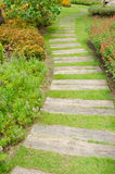 Stone paved pathway Stock Image