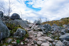 Stone paved pathway Royalty Free Stock Image