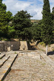 Stone-paved processional way, in Knossos, Crete Royalty Free Stock Photos