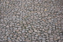 Stone paved road Royalty Free Stock Images