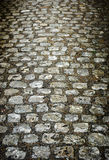Stone paved road. An ancientt sone pave road in a small french town Stock Photography