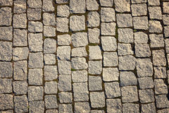 Stone-paved road surface Royalty Free Stock Image
