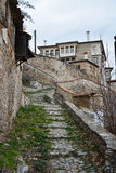 Stone paved stairs Royalty Free Stock Photo
