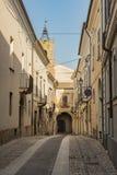 Stone paved street in Loreto Aprutino Italy Royalty Free Stock Photos