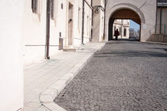 Stone paved street Royalty Free Stock Photo