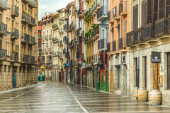 Stone paved streets in Pamplona Spain Royalty Free Stock Photography
