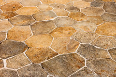 The stone pavement as the background Stock Image