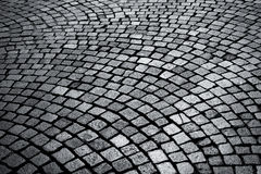 The stone pavement as the background Stock Photo
