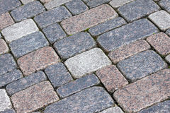 Stone pavement background Royalty Free Stock Photos
