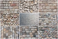 Stone pavement Stock Photo