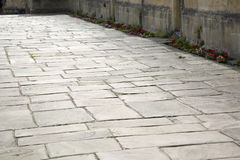 Stone Pavement in Chipping Campden, Cotswolds, Gloucestershire Stock Image