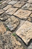 Stone pavement detail and perspective Stock Image
