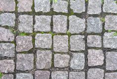 Stone pavement in Europe Stock Photography