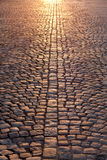 Stone Pavement In Evening Sunlight Stock Images
