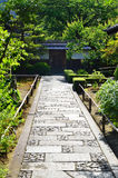 Stone pavement of Japanese garden, Kyoto Japan. Royalty Free Stock Image
