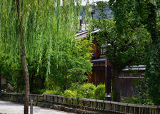 Stone pavement of old city of Kyoto, Japan Royalty Free Stock Image