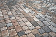 Stone Pavement Pattern Stock Photography