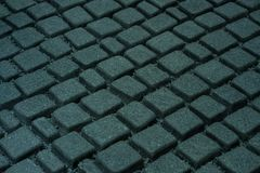 Stone pavement in perspective. Background texture Royalty Free Stock Photo
