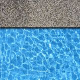 Stone pavement with pool Stock Photos