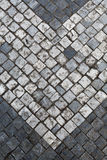 Stone pavement in Prague by day Stock Photo