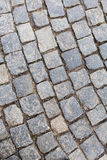Stone pavement in Prague by day. Stock Images