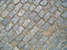 Stone pavement on the street. Stone pavement on brazilian street stock photography