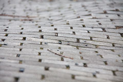 Stone pavement street of uneven paving stones Royalty Free Stock Photo