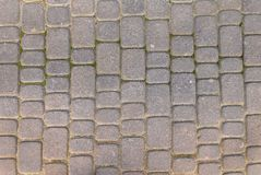 Stone pavement texture. Granite cobblestoned pavement background Royalty Free Stock Photo