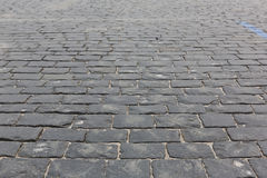 Stone pavement texture. Moscow, Russia, Red Square Stock Photos