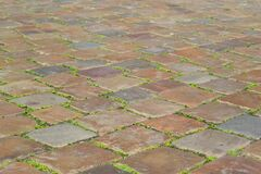 Stone pavement in a town square Stock Images