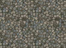 Stone paver tiled path royalty free illustration