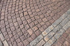 Stone pavers Europe Royalty Free Stock Image