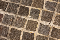 Stone Pavers in Grid Pattern Royalty Free Stock Image