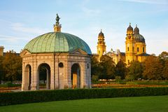 Stone pavilion. Munich. Germany Stock Images