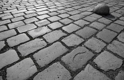 Stone Paving. Angled abstract of blocks of gray stone paving stock images