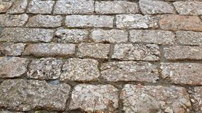 Stone paving of a street in Yunnan, China royalty free stock images